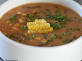 Roasted Corn Chowder with Cheddar Cheese
