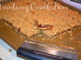 Strawberry crumb bars....butter & scrumptious