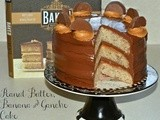 Triple Layer Banana Cake With Peanut Butter Filling & Ganache