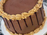 Triple Layer Chocolate Peanut Butter Cake