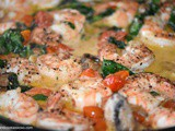 Tuscan Butter Shrimp with Tomato Spinach Cream Sauce