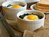 Cheesy Polenta and Spinach Baked Eggs #HavartiHolidays
