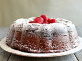 Chocolate Raspberry Swirl Bundt Cake #BundtAMonth