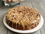 Double Chocolate Chip Cake with Salted Peanut Butter Glaze