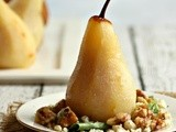 Ginger Poached Pears with Gorgonzola and Walnuts
