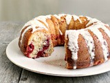 Lemon Cherry Bundt Cake with Lemon Glaze #BundtAMonth