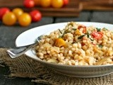 Pan Roasted Tomato Barley Risotto