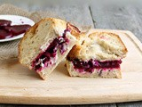 Roasted Beet & Herbed Goat Cheese Sandwich