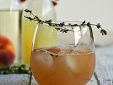 Thirsty Thursdays: Bourbon and Thyme Peach Smash