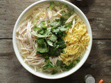 Bún Thang – Vietnamese Noodle Soup with Chicken, Pork, & Egg