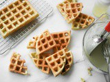 Vegan Waffles Recipe (Pandan Waffles: Crispy Outside, Chewy Inside)