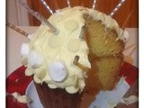 White Chocolate and Lemon Giant Cupcake (Gluten Free)