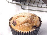 Whole Wheat Blueberry and Almond Muffins