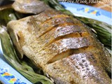 Baked Fish In Banana Leaves & Sambal Long Beans