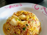 Eggs Fried Rice with Fishballs