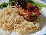 Garlic Noodles With Honey Chicken Chop