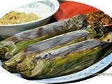 Grilled Rice In Banana Leaves With Shredded Chicken & Silver Fish (Nasi Bakar) (Happy Call)