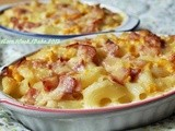 Mac & Cheese With Corn & Ham Gratin