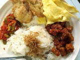 Nasi Uduk Set (Coconut Rice Set)