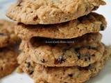 Oatmeal & Dried Cranberries Chewy Cookies (Martha Stewart)