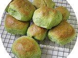 Pandan Buns With Coconut Filling