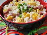 Spam Fried Rice With Corn