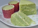 Steamed Pandan Cheese Layered Cake