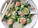 Thai Style Prawn Avocado Rice Vermicelli Soup