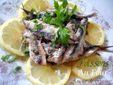 Fish   sardine  with parsley, in the oven