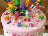 Barney, Dora and friends for Nayla