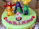 Barney, Elmo and friends cake for Corinne