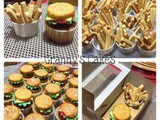 Burger Cupcakes & French Fries Cookies for Sita