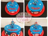 Captain America cake for Azzam