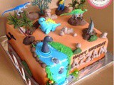 Dinosaurus Cake for Azzam