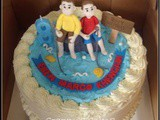 Fishing Together Red Velvet Cake for Eben & Marco