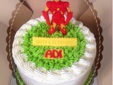 Iron Man Red Velvet Cake for Adi