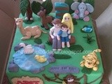 Jungle Family Cake for Adit