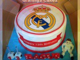 Real Madrid cake for Bagus