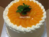 Red Velvet Cake topping Mandarin Orange