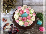 Shabbychic Flower Buttercream Cake