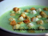 Peas Soup With Croutons