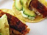 Blackened Fish Baja Tacos