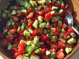 Cucumber Tomato Salad with Feta Cheese