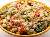 Quinoa, Pepper, and Cannellini Bean Salad