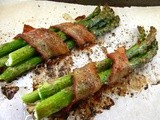 Roasted Asparagus Bundles Wrapped in Bacon