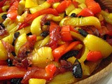 Sweet-and-Sour Peppers with Oil-Cured Olives