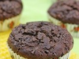 Eggless Banana Chocolate Muffins - No Butter, No Oil, No Sugar Recipe