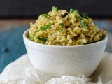 Cabbage Brown Rice / Pilaf - Easy Lunch Box Recipes