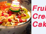 Fruit Cream Cake for Birthday Party