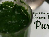 "How To make Green Spinach Puree (Palak) ""Big Tips"""